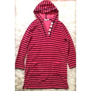 Boden Terry Cloth Striped Tunic Cover Up